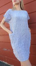 ZodiAC vtg chic dress lavender Vintage 70s 100% cotton purple S / M boho pockets