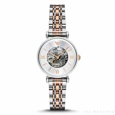 AR1992 Meccanico Silver and Rose Gold Stainless Steel Automatic Ladies Watch