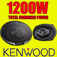 """KENWOOD 6""""x9"""" 6x9 1200W 4-way car rear deck oval shelf speakers, brand new pair"""