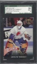 1993 Leaf hockey card #10 Jocelyn Thibault Quebec Nordiques graded SGC 96 MINT 9