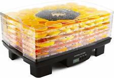 Andrew James Digital Dehydrator for Food Fruit Beef Jerky | 6 Trays