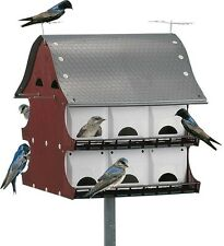 16-Family Purple Martin Barn House Starling Resistant Entrances Easy Assemble