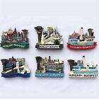 Hungary Tourist Souvenir Gift  Favorite Fridge 3D Resin Fridge Magnet 5 Styles