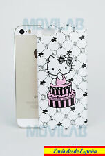 Funda carcasa rígida Apple Iphone 5 / 5S dibujos Hello Kitty blanca cajas