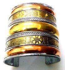 Brass Copper Oxidized Cuff Bracelet Charms Kada Wristlet Band Bangle Jewelry 42