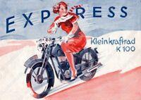 Express Radexi 136 166 Motorrad Poster Plakat Bild Schild Affiche Deko Literatur