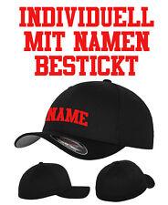 FLEXFIT CAP ORIGINAL - Käptn, Angler, Freizeit mit Namen nach Wunsch BESTICKT