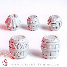 Small Barrel set for fantasy scenery, dioramas, tabletop, RPG and board games