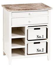 Schrank - Cabinett - mit Schubladen in weiß Shabby Landhaus Kommode