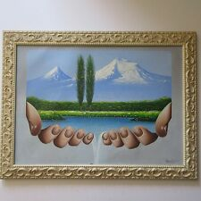 Biblical Mount Ararat, Armenia SURREALISM PAINTING MODERNISM HANDS Aghajanyan
