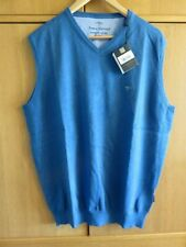 Fynch-Hatton SUPERFINE COTTON Sleeveless Jumper - Azure - Size XL - NEW + Tags