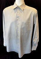 Giorgio Armani Le Collezioni Mens L/S Dress Shirt Striped 100% Cotton 15 32/33