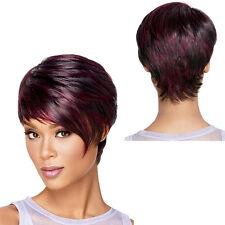 Femmes Mode Elégant Perruque de cheveux courts Vin rouge Cosplay