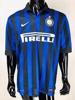Nike Firelli Men's Blue Black Striped Soccer Futbol Jersey Size XL