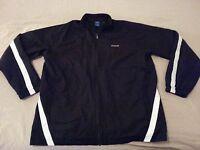 Mens Reebok Full Zip Jacket L Large Black Athletic