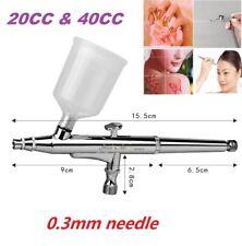 Double Action Airbrush Paint Spray Gun Kit 0.3mm Nozzle For Body Tatoo Art Paint