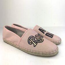 44da4271a SAM EDELMAN CIRCUS Rose All Day Pink Leni Canvas Slip On Loafers  Espadrilles 9.5