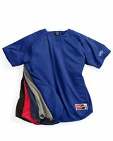 Rawlings Men's S-3XL Short Sleeve Flatback Mesh Baseball Shirt Pullover, Warmup