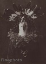 1900/72 EDWARD CURTIS Photo Gravure Native American Indian Navaho Costume Mask