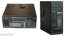 Black Micro ATX Desktop/Tower Case / Chassis .300W PSU. Q-Tec EL-Micro. CS101B