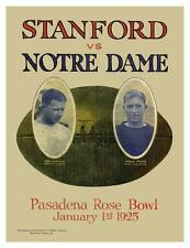 Stanford vs Notre Dame **LARGE POSTER** Vintage FOOTBALL 1925 Rose Bowl