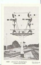 Railway Postcard - L.B. & S.C.R. Bracket Signals at Epsom Downs Station  2152