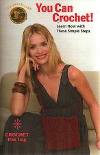 Learn to Crochet! Beginners How to Crochet & Make Bag Simple Steps Pattern Flyer