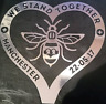 Manchester Bee Heart Decal CAR Van Window Sticker l Love chrome silver