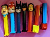 Vintage pez dispensers lot of 7 ranging from 1970's to 90's. Flintstones Batman