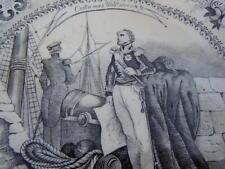 Assiette porcelaine décor costume militaire Capitaine Vaisseau Amiral tenue 19èm