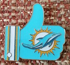 "MIAMI DOLPHINS ""LIKE"" Thumbs Up Lapel PIN"