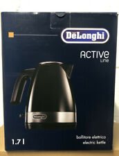 DeLonghi KBLA3001 Active Line 1.7L 3KW Rapid Boil Cordless Kettle – Black