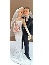 Mariée et marié-cake topper figurine décoration mariage caractères
