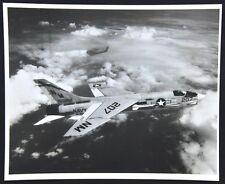 Vintage VF-194 Navy Fighter Jet Airplane 207 In-Flight Photo. Vietnam-Era 1960's