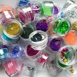 Glitter Dust Nail Make Up Hair Body Tattoo Slime Putty Craft Art Pot 84colors