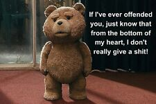 MOVIE QUOTE FRIDGE MAGNET - TED in the film TED (as in the movie TED)