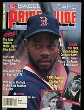 SCD Baseball Card Price Guide December 1991 Ellis Burks w/Mint Cards jhscd3