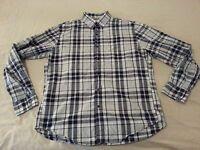 Mens J. Crew Plaid Dress Shirt L Large Blue Cotton Long Sleeve Button