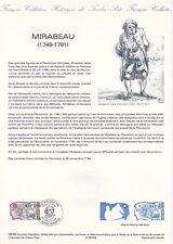 Document philatélique 08-89 1er jour 1989 Mirabeau Personnage Historique