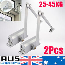 2x Adjustable Door Closer Fire Rated Auto Closing Surface Mounted 25 45KG HOT