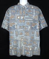 Reyn Spooner Dietrich Varez Collection Men Reverse Print Shirt Size XL Pullover