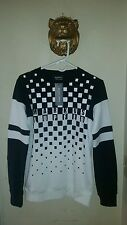$300.00  Markus Lupfer Black and White Logo Print Sweatshirt  Men's Size Small