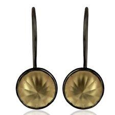 Black Oxidized Lemon Topaz 925 Sterling Silver Dangle Earrings Gemstone Jewelry