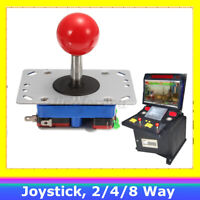 Zippyy Ball Top Short Shaft Arcade Joystick 2/4/8 Way (Red) - for MAME,