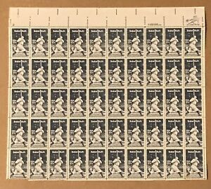 BABE RUTH Sheet of 50 US 20¢ Stamps  1983 NRMT
