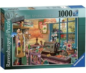 Ravensburger My Haven No.4 The Sewing Shed 1000pcs. Jigsaw Puzzle, FAST DELIVERY