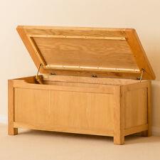Roseland Oak Blanket Box / Solid Wood Rustic Ottoman / Waxed Oak Trunk / New