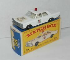 1960s.Lesney Matchbox.55.Ford Galaxie Police.Red Roof Light mint in box.original
