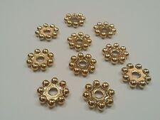 CCB Acrylic Golden Flower Beads, 20x4.5mm, Hole: 5mm - Qty 20