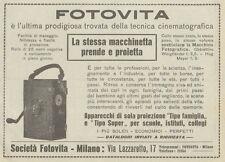Z1700 FOTOVITA - Proiettore - Cinepresa - Pubblicità d'epoca - 1922 Old advert